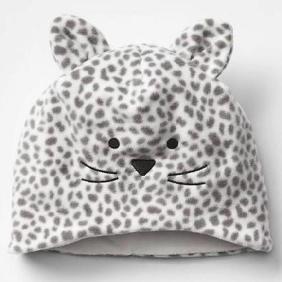 672219f2b Baby Gap Kitty Cat Fleece Hat NWT